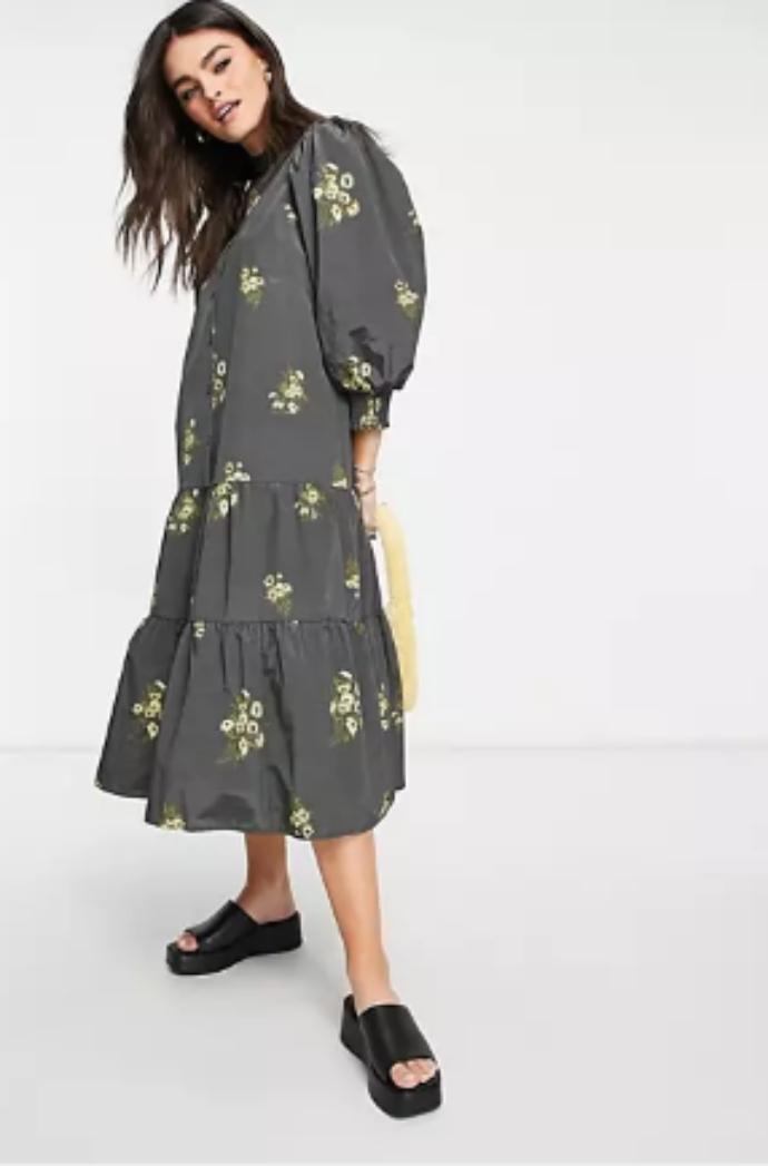 midi smock φόρεμα