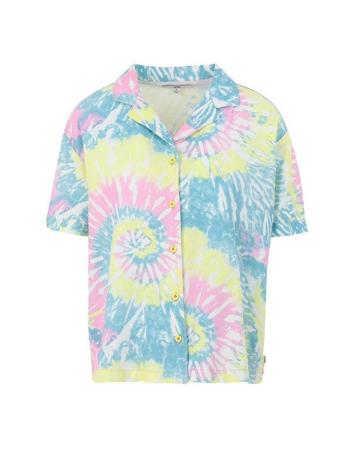 Tie-dye πουκάμισο