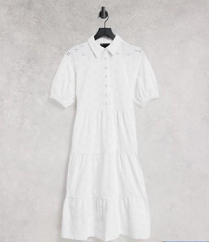 Μίντι φόρεμα με δαντέλα