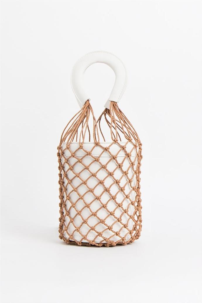 bucket bag με δίχτυ