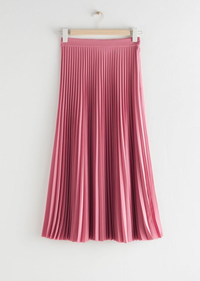 Mίντι πλισέ φούστα