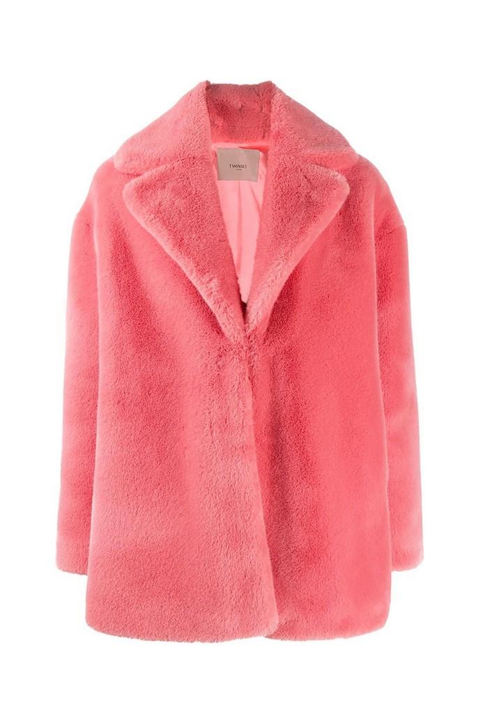 Γούνινο faux παλτό