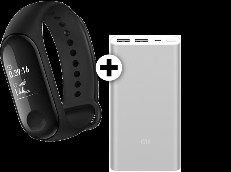 XIAOMI MI Band 3 μαζί με Xiaomi Power Bank 2S Silver