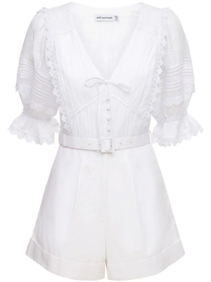 Playsuit με δαντέλα