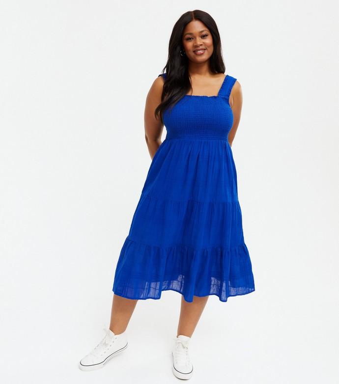 Tiered μίντι φόρεμα