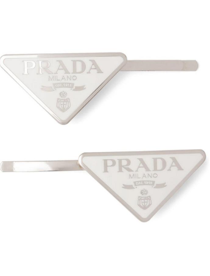 Logo hair clips