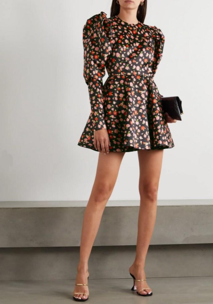 Φλοράλ μίνι φόρεμα