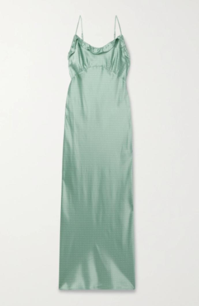 maxi lingerie dress