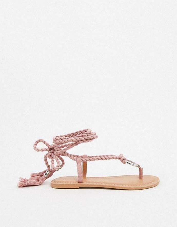 Lace-up σανδάλια με κρίκο