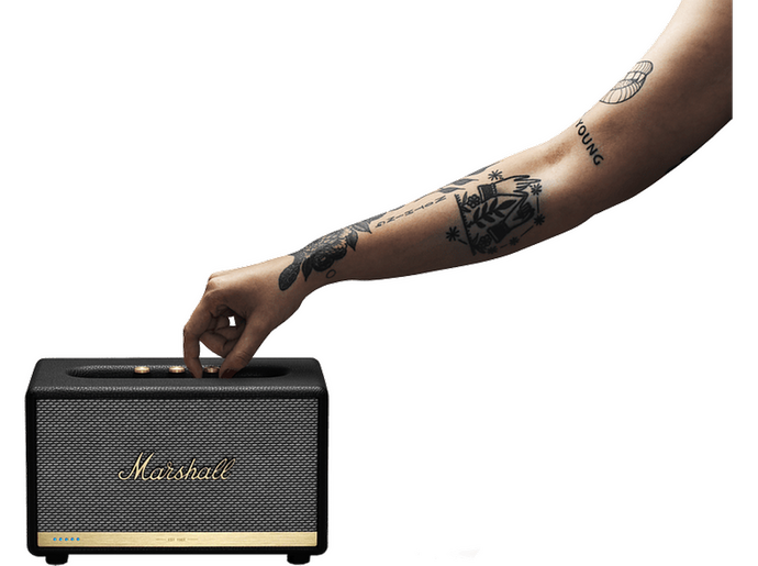 MARSHALL Action II Bluetooth Speaker Voice Alexa Black