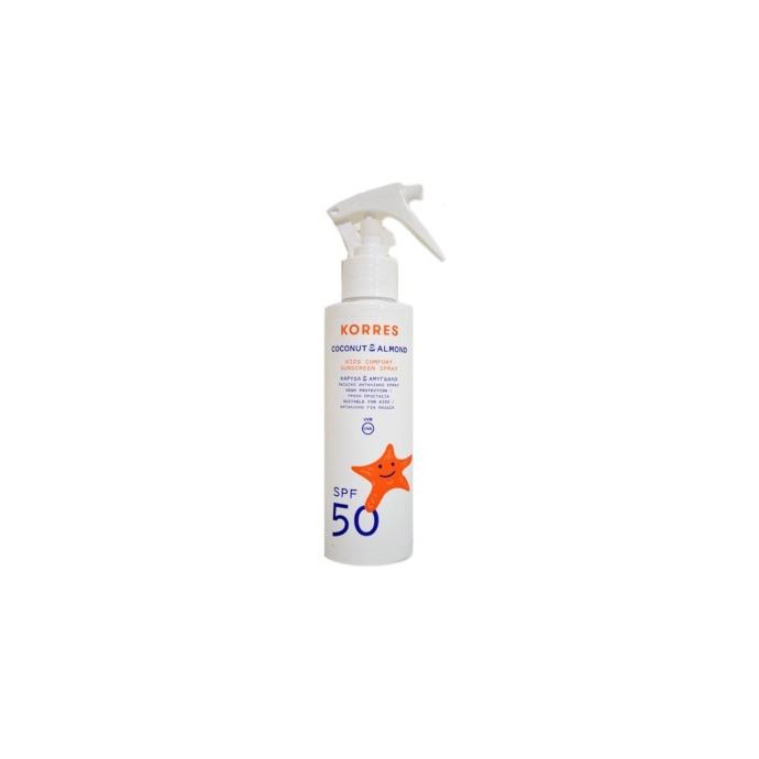Korres Coconut & Almond Kids Sunscreen Spray SPF50