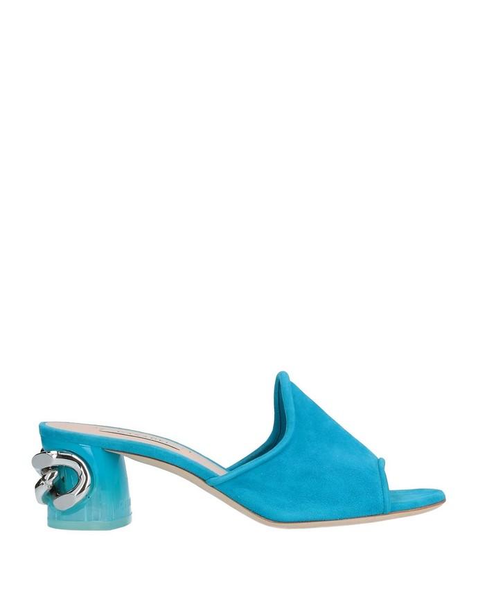 Mules με block heel