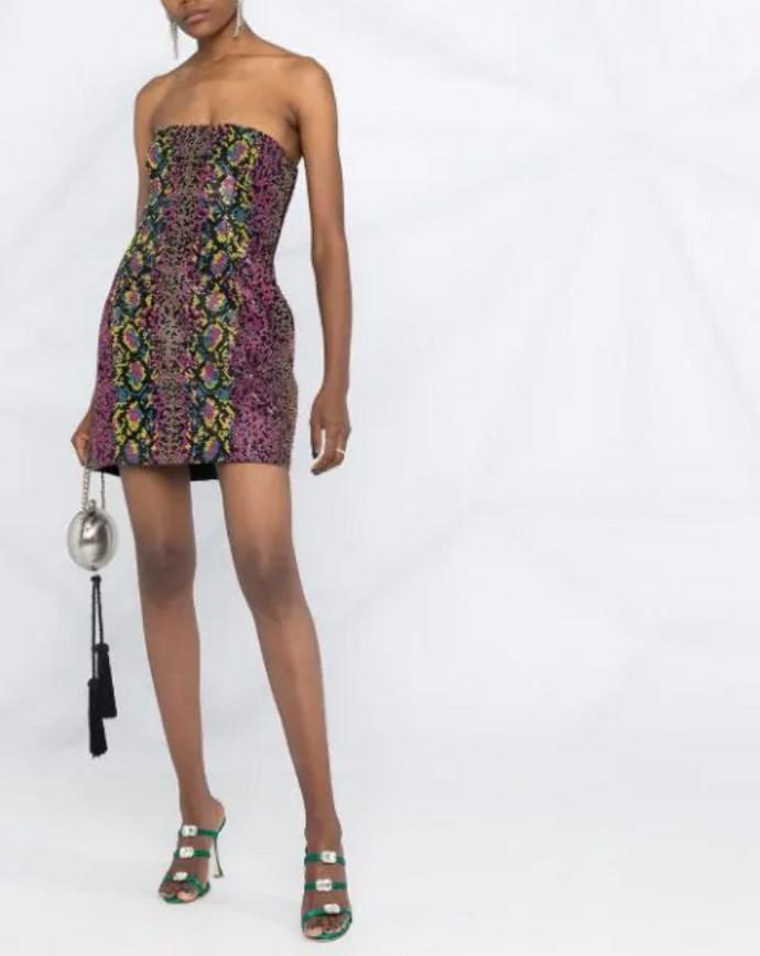Μίνι animal print φόρεμα με παγιέτες