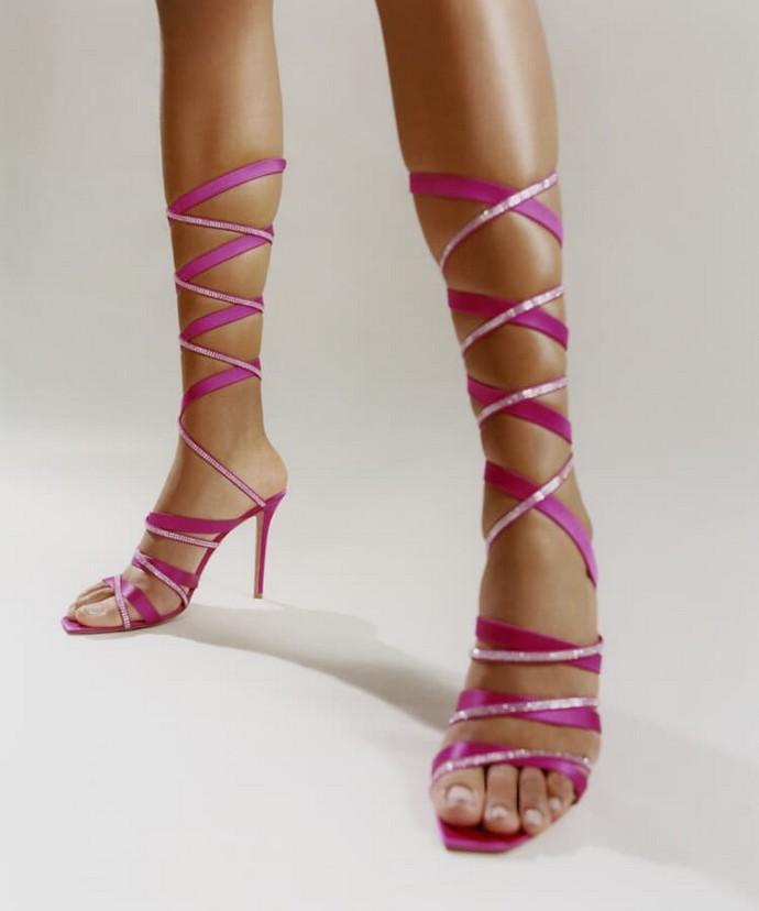 Strappy sandals με στρας