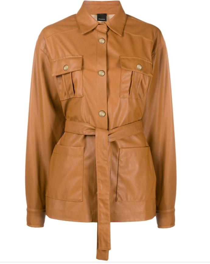 Shirt Jacket με ζώνη