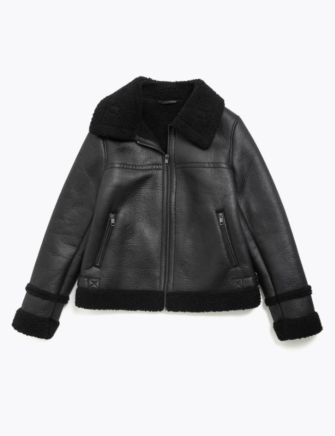 Jacket από συνθετική γούνα