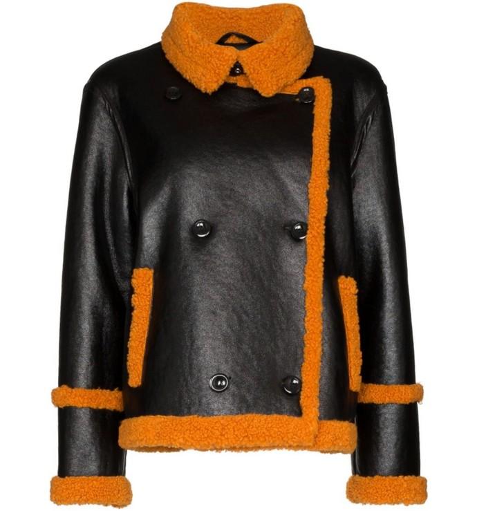 Jacket με faux πολύχρωμη γούνα