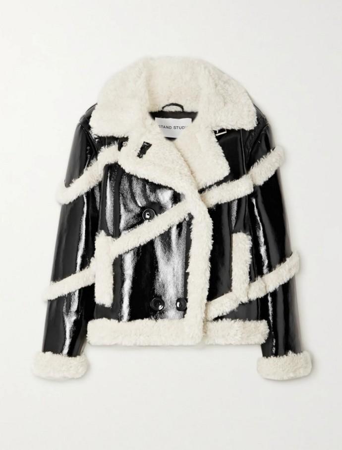 Shearling jacket από faux γούνα