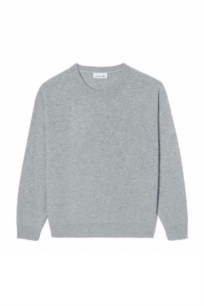 Πλεκτό πουλόβερ με χοντρή λαιμόκοψη