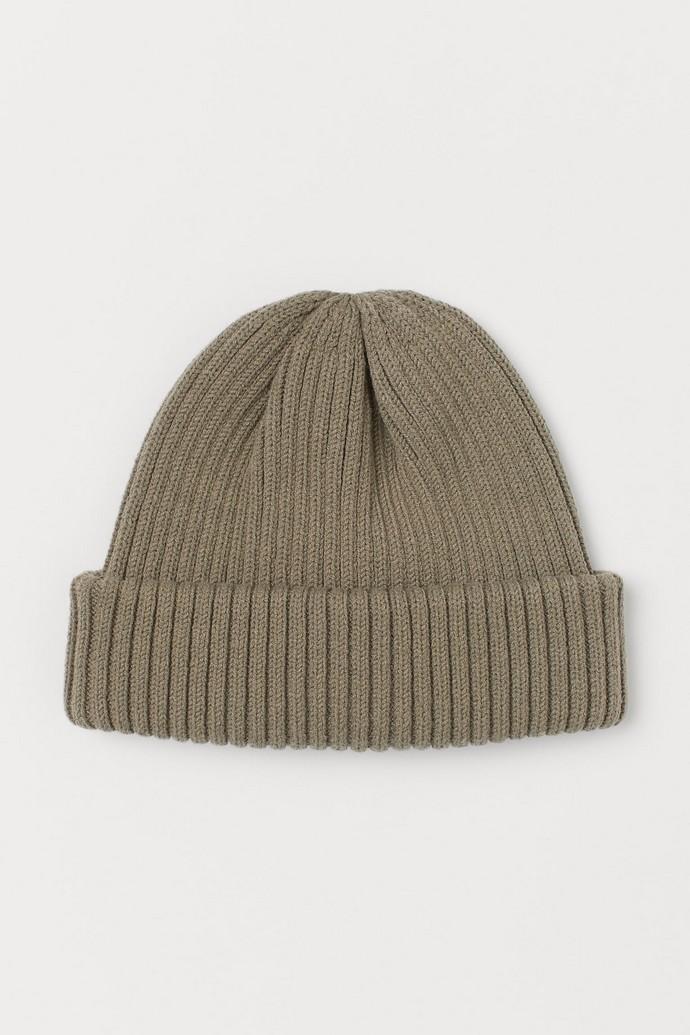 Rib-knit σκουφάκι