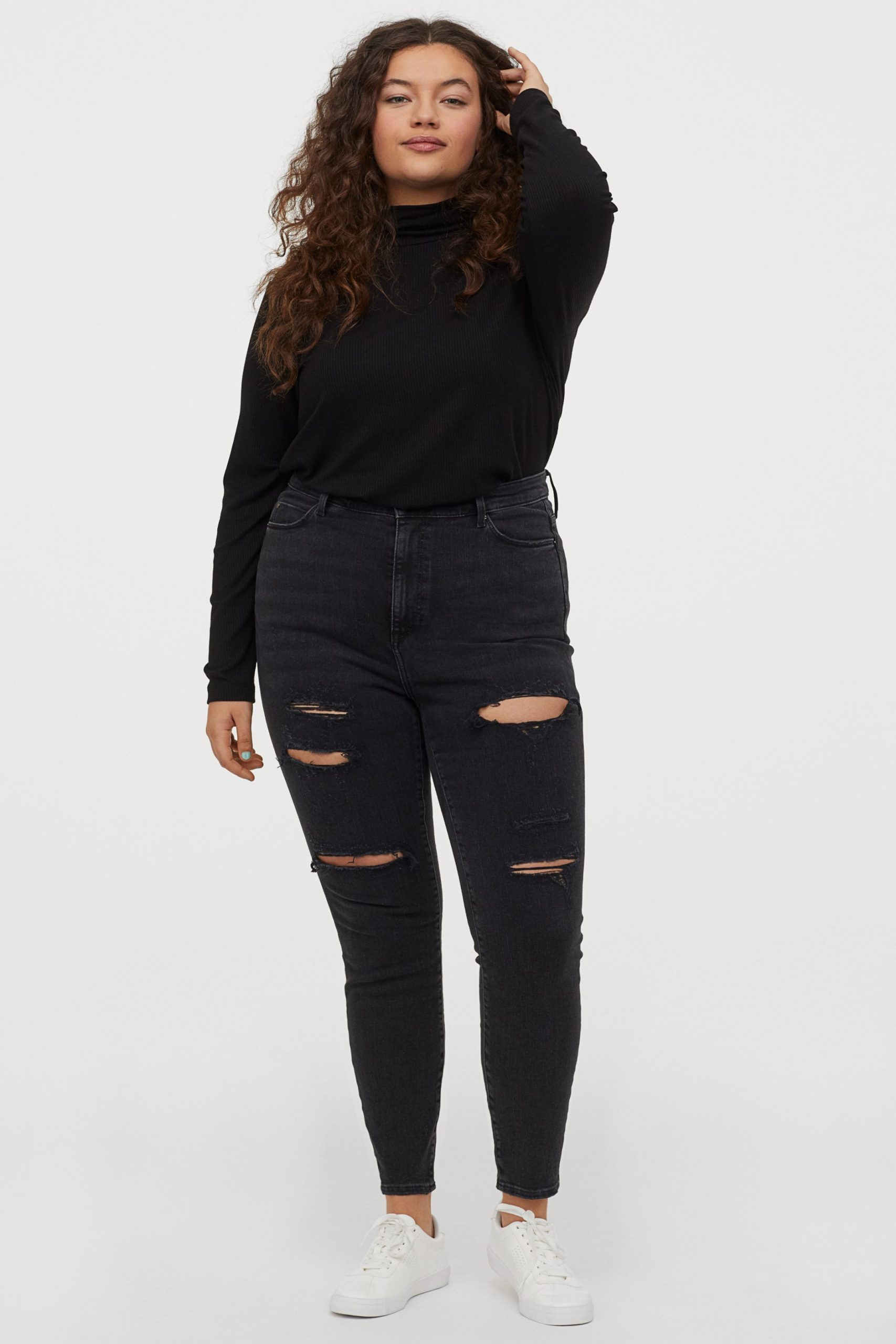 skinny τζιν παντελόνια plus size