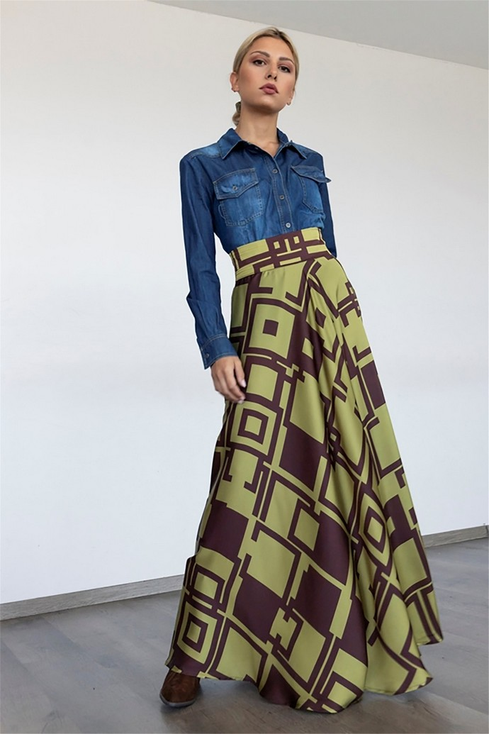 Mάξι φούστα με pattern