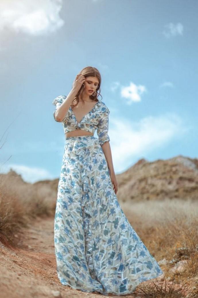 Φλοράλ μάξι φούστα