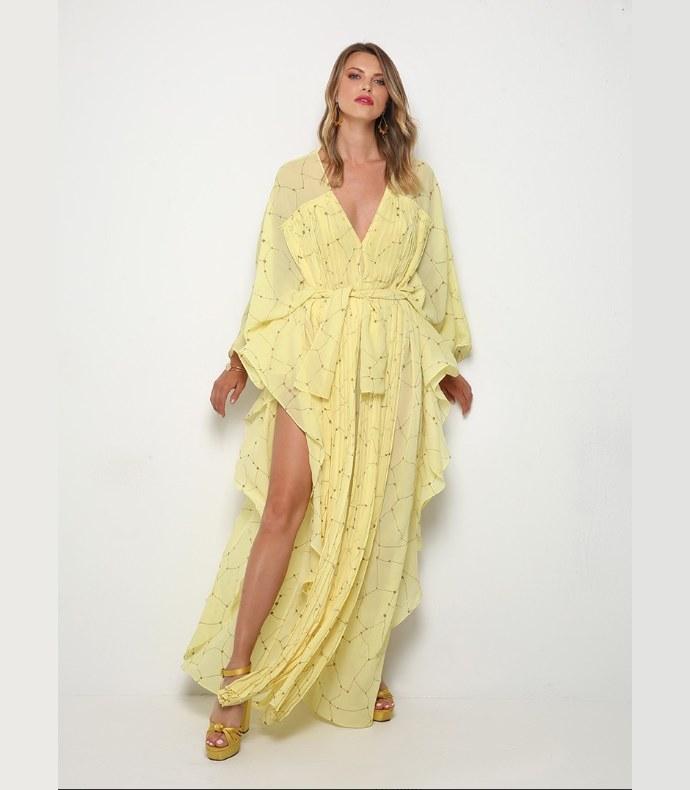 κίτρινο jumpsuit, Φαίη Σκορδά