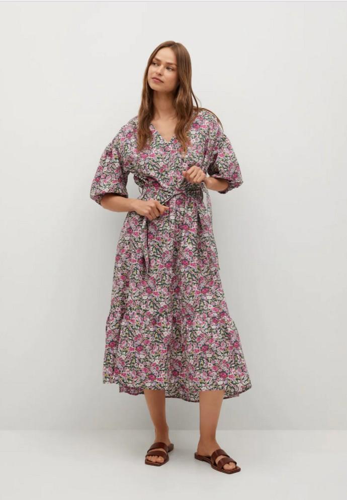 Φλοράλ βαμβακερό φόρεμα