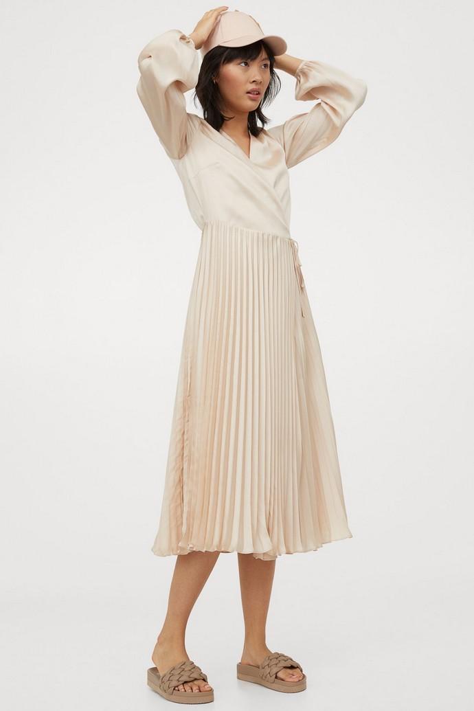 Πλισέ κρουαζέ φόρεμα