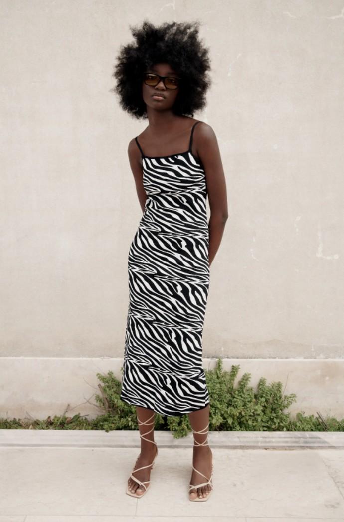 Αnimal print μίντι φόρεμα