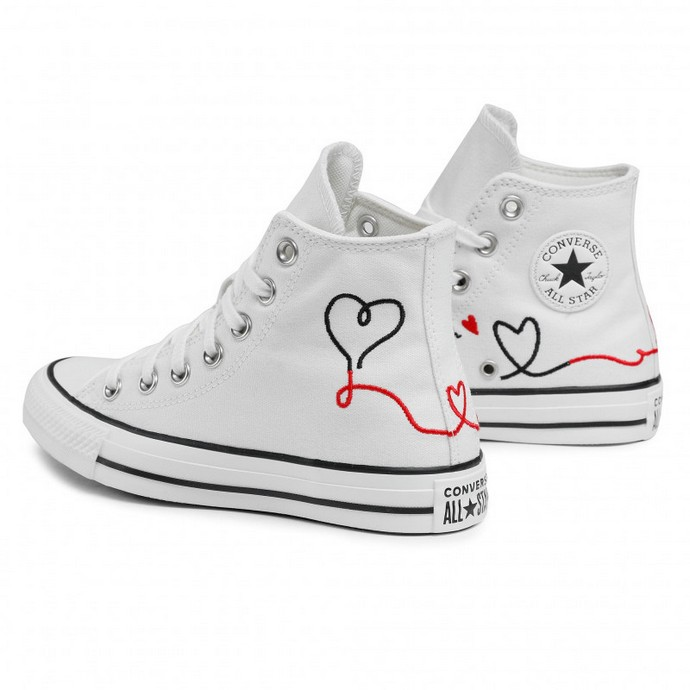 Hi-top sneakers με κέντημα