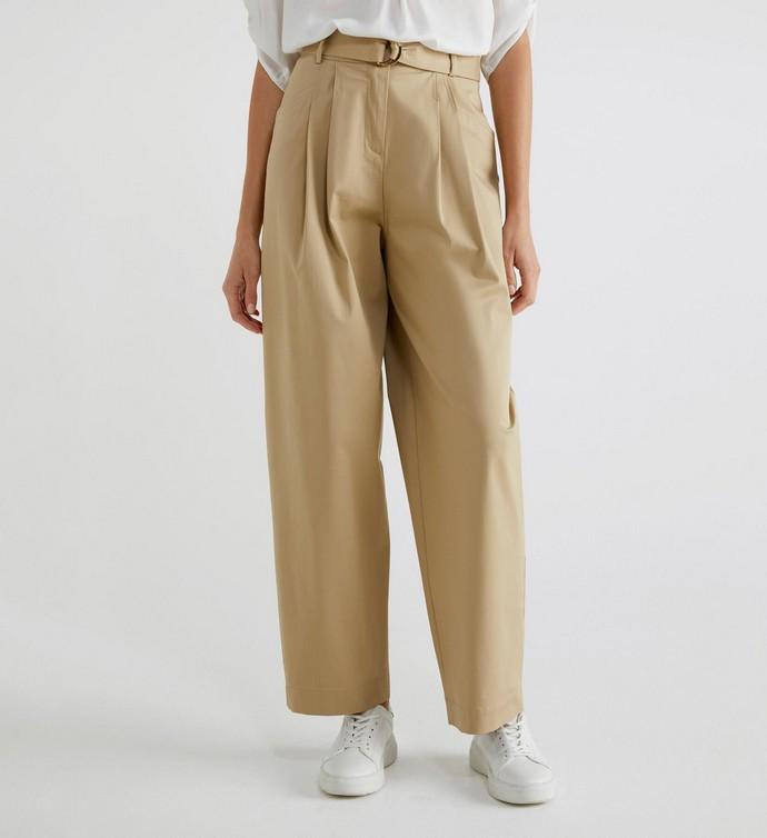 Ψηλόμεσο βαμβακερό παντελόνι
