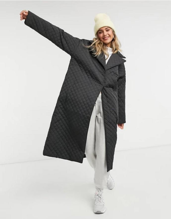 Καπιτονέ oversized παλτό