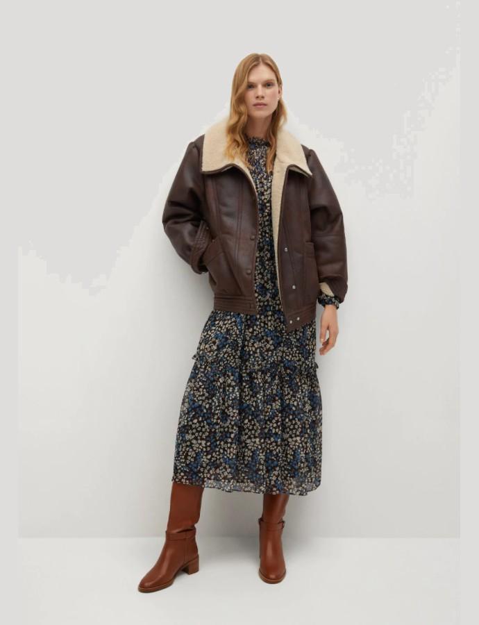 Faux δερμάτινο jacket