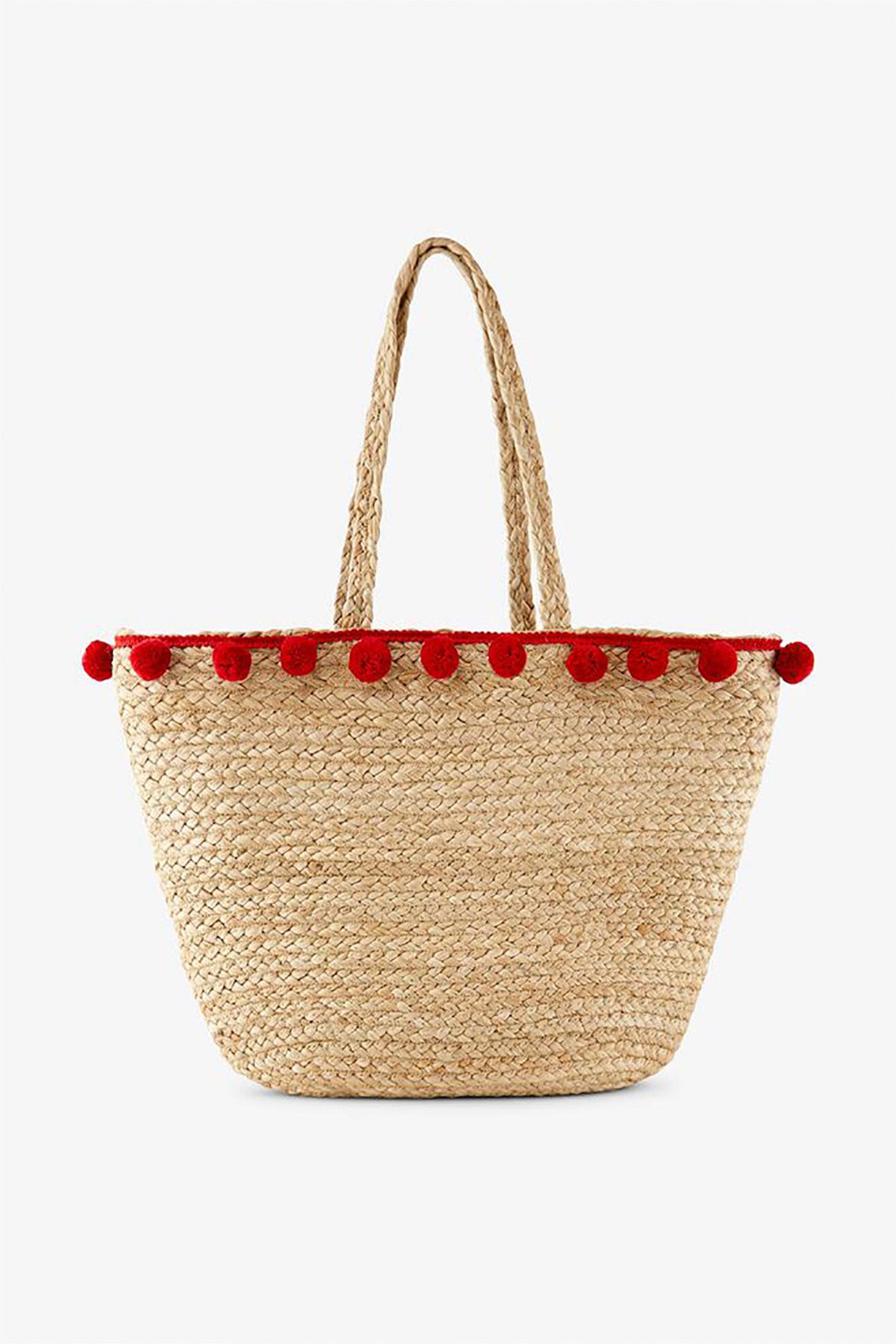 Τσάντα με pom pom