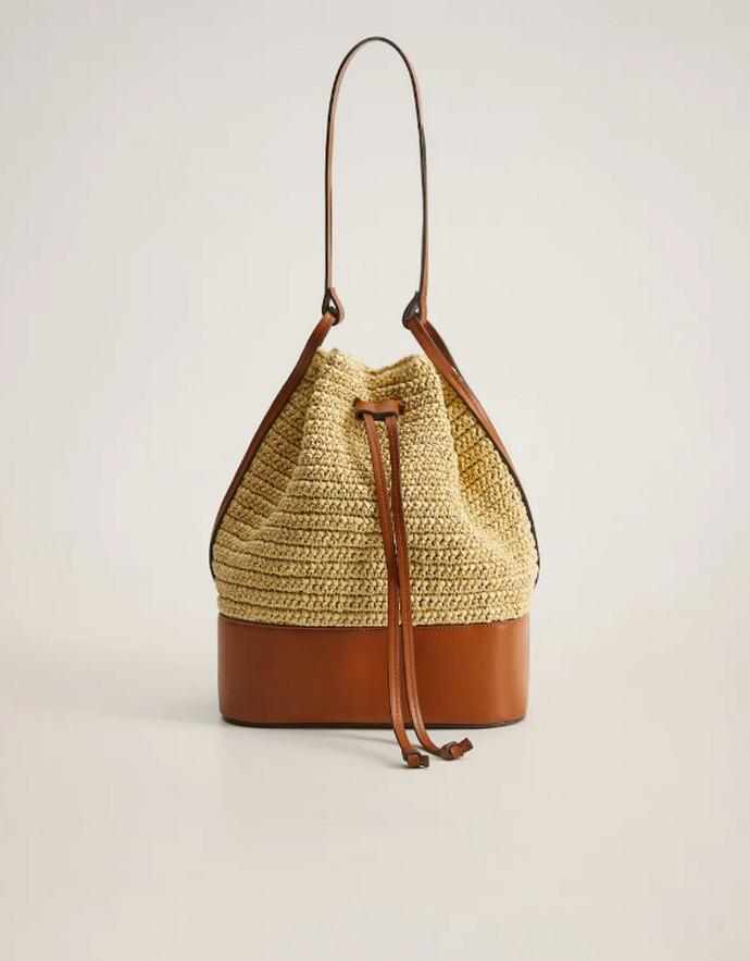 Τσάντα μπουγκί από ψάθα