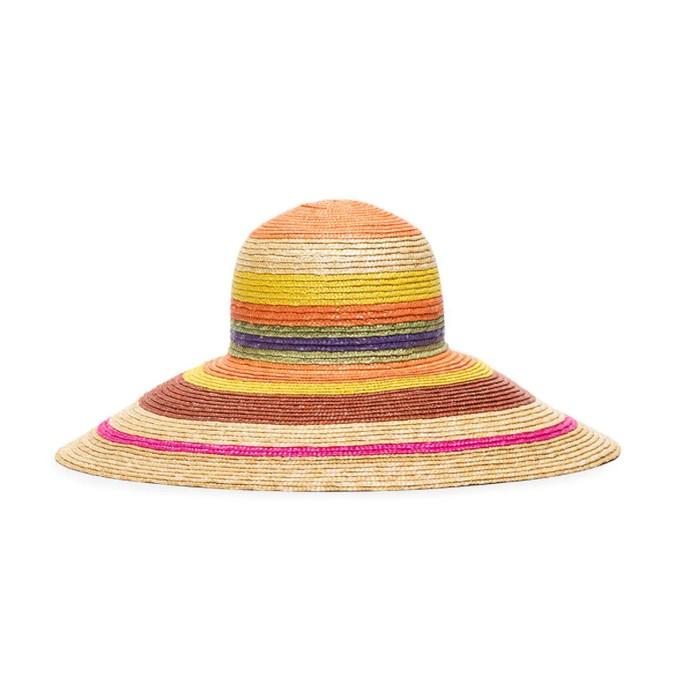 Πολύχρωμο ψάθινο καπέλο