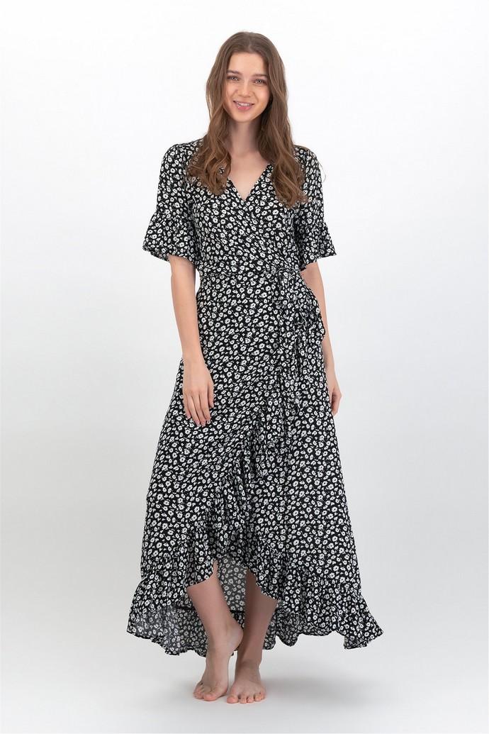 Κρουαζέ φλοράλ φόρεμα
