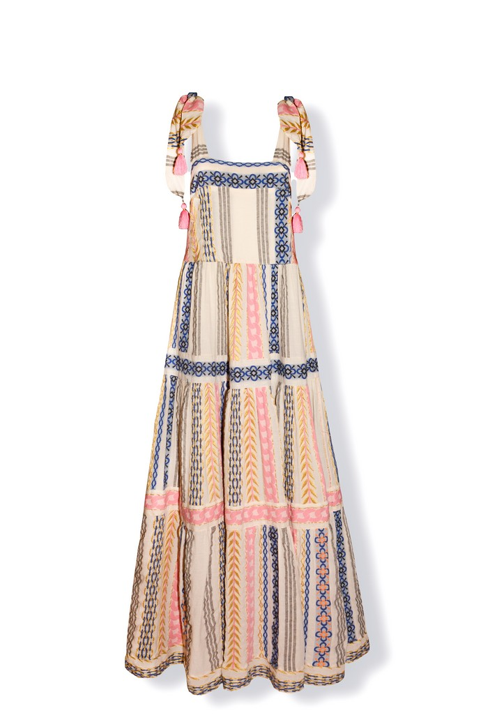 Μάξι ριγέ φόρεμα