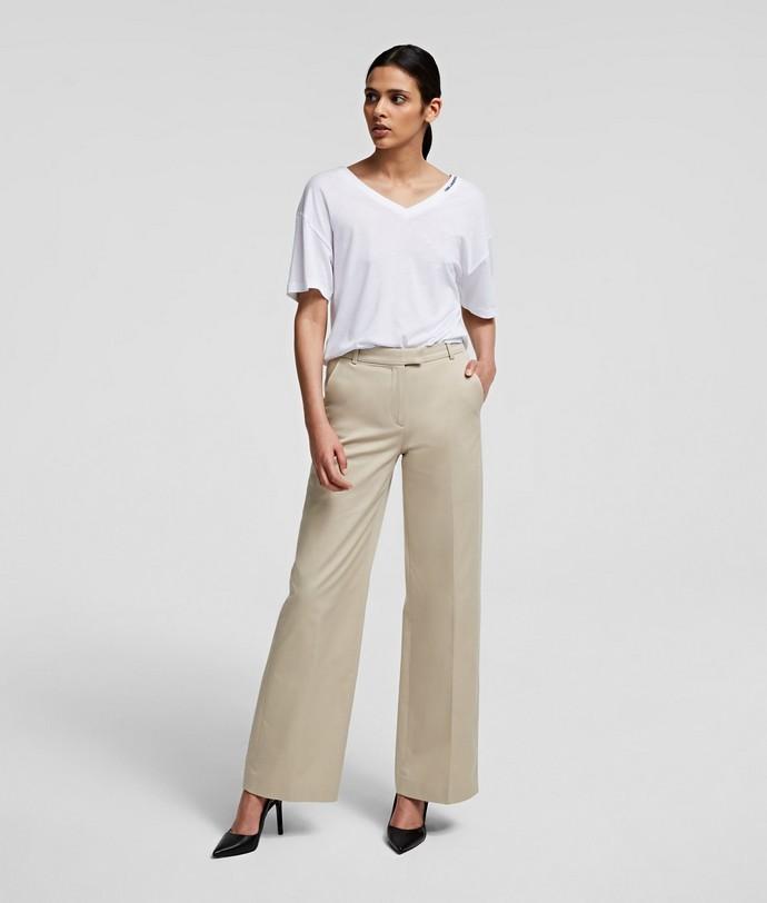 Wide-leg παντελόνα