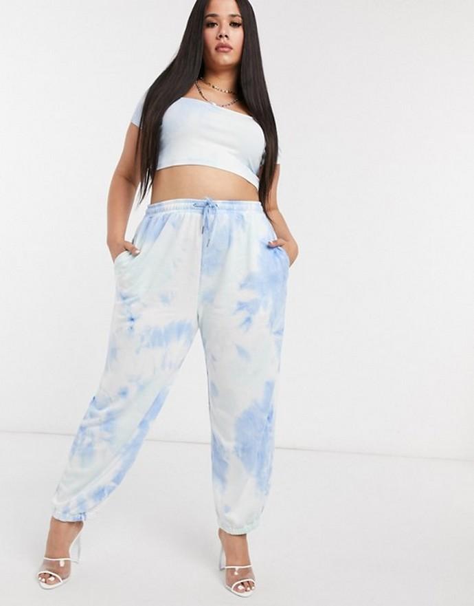 Tie-dye παντελόνι με λάστιχο