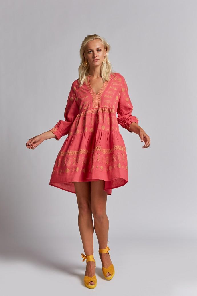 Tiered φόρεμα/καφτάνι με σχέδια