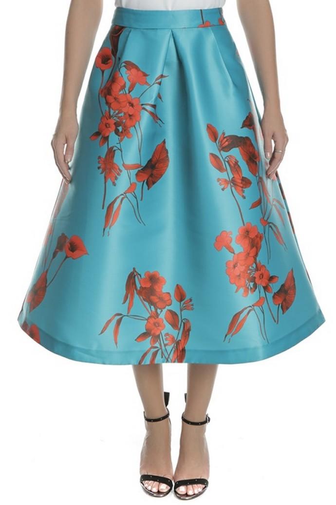 Μίντι φούστα με prints