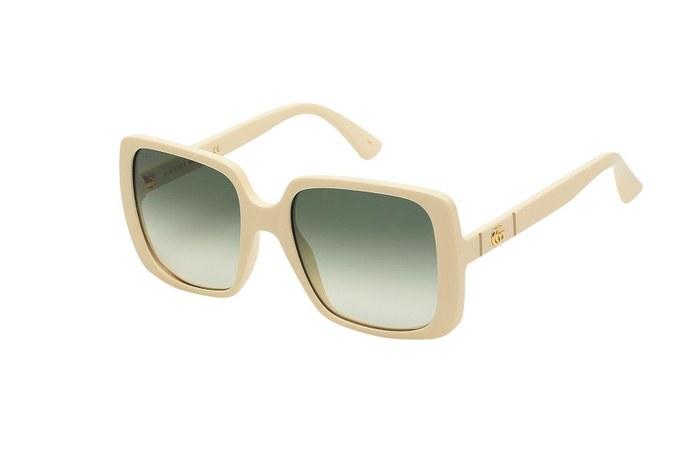 Τετράγωνα γυαλιά ηλίου με διακοσμητικό λογότυπο