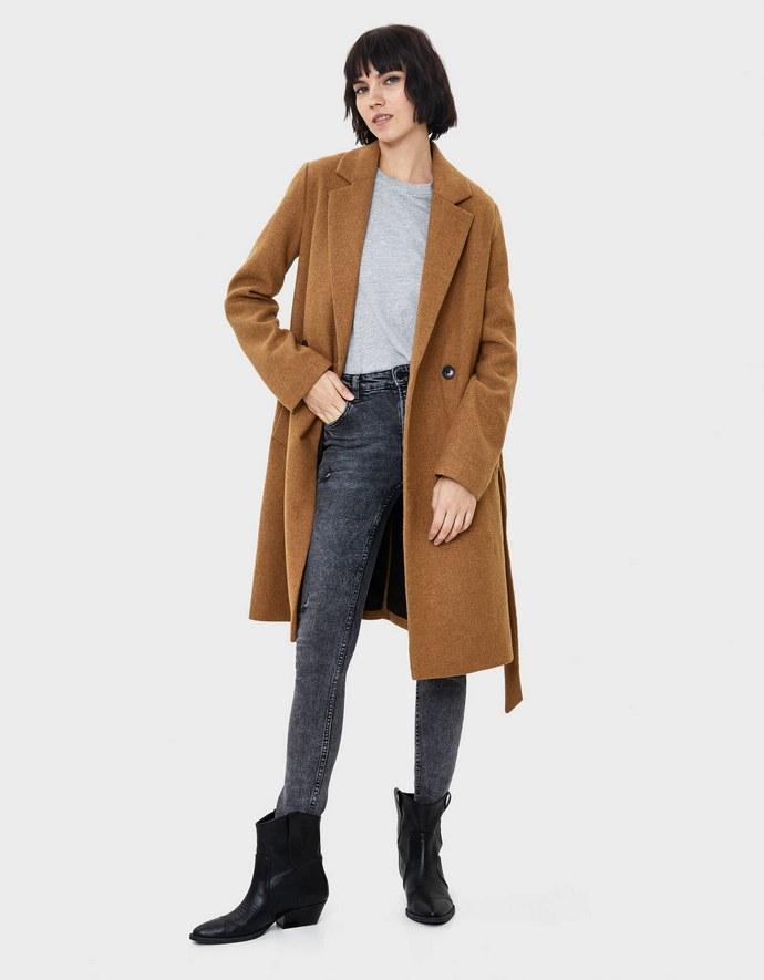 Μάλλινο παλτό από ανακυκλώσιμο μαλλί