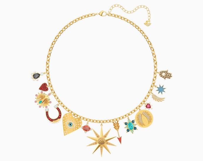 SWAROVSKI Lucky Goddess Charms Necklace,