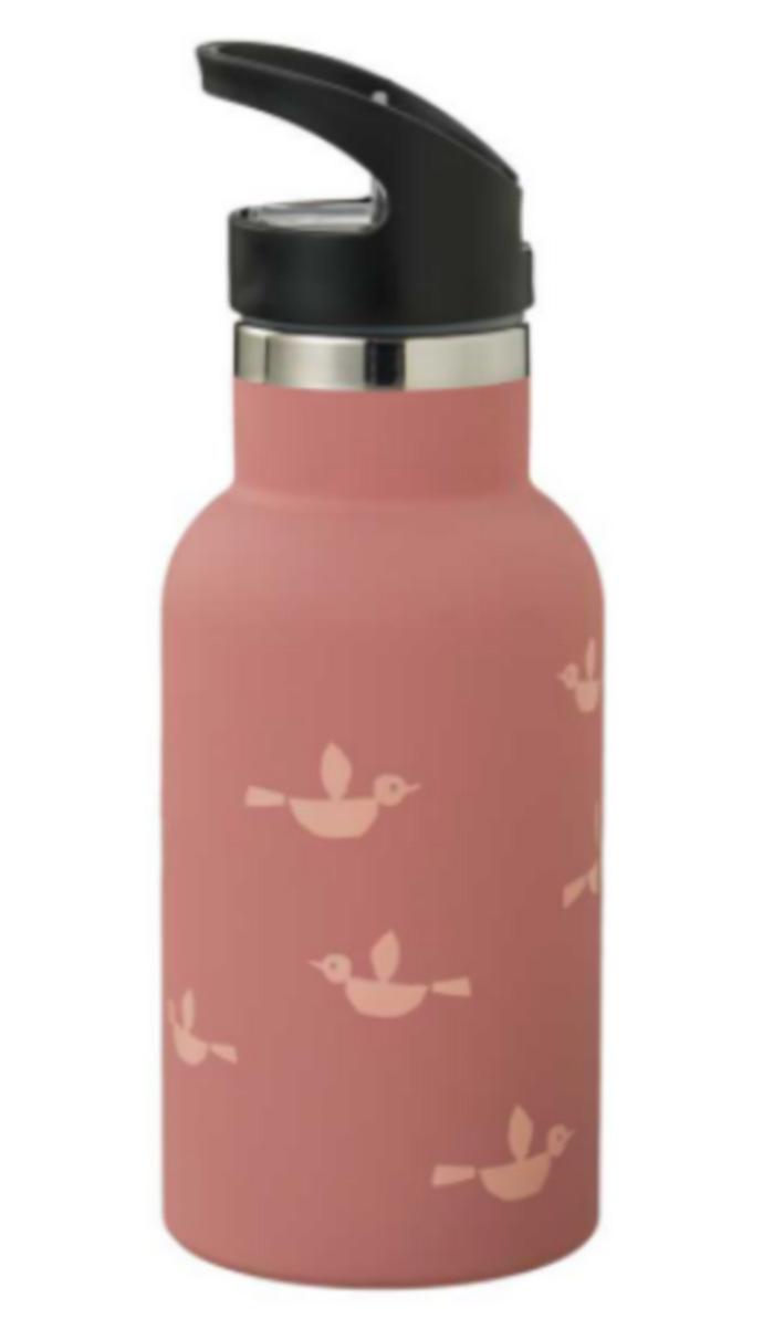 Fresk: Θερμός με διπλό τοίχωμα από ανοξείδωτο ατσάλι και ενσωματωμένο καλαμάκι 350ml - Birds