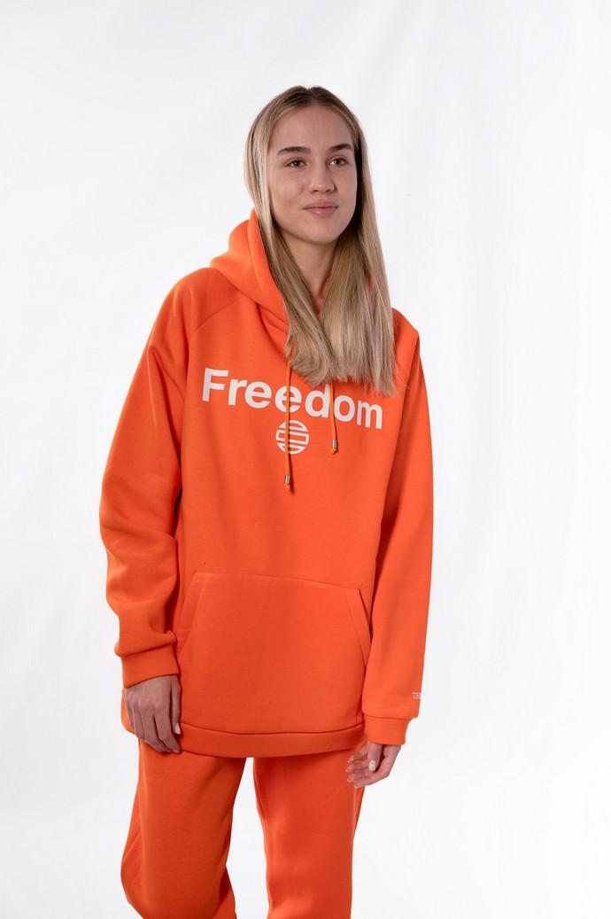 "Hoodie με τυπωμένη τη λέξη ""Freedom"""