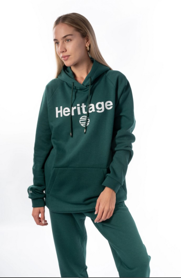 "Unisex hoodie με τυπωμένη τη λέξη ""Heritage"""